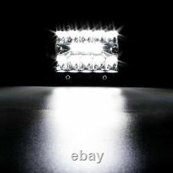52 Led Light Bar Courbé +22'' Lampe + 4x Pods Kit Pour Chevy Silverado/gmc Sierra
