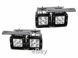 80w Led Double Avec Pods Foglight Support / Câblages Avalanche Silverado 1500 2500