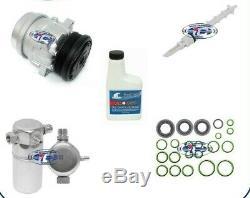 A / C Compresseur Kit Convient Chevrolet S10 Gmc Sonoma Isuzu 98-03 2.2l Oem V7 67291