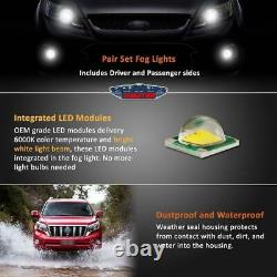 Ajustement 14-20 Chevy Impala Paire Oe Led Drl Fog Light +wiring+switch Kit Clear Lens
