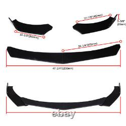 Avant Bumper Lip Body Kit Spoiler Splitters Noir + Strut Rods Pour Chevy Camaro
