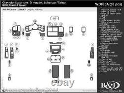 Chevy Silverado Wood Grain Dash Kit S'adapte Sur 1999-2002 33pc Kit