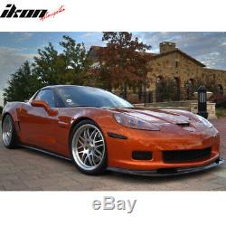 Convient 05-13 Chevy Corvette C6 Z06 Zr1 Style Pare-chocs Avant Lèvre En Fibre De Carbone