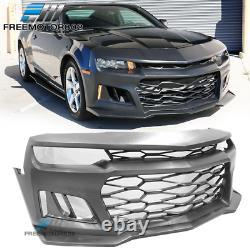 Convient 14-15 Chevy Camaro Coupé Ikon Zl1 Pare-chocs Avant Conversion Couverture Pp
