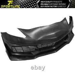Convient 14-19 Chevy Corvette C7 Zr1 Style Front Bumper Conversion Kits Pp