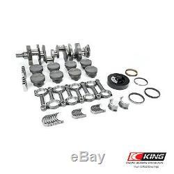 Convient Chevy Sbc 383 2pc. Cast Crank I-beam Hyper Pistons Équilibré Stroker Kit