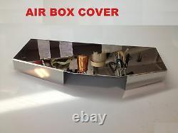 Convient Corvette C4 1985-1989 3 Pc Air System Cover Kit Moteur Inoxydable Chrome