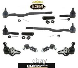 Convient Pour 89-98 Tracker Intérieur Tie Rods Ball Joints Sway Bar Links 10pc Kit