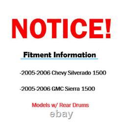 Coussinets En Céramique Rotors De Frein Forés Avant Pour Chevy Silverado 1500 Gmc Sierra 1500