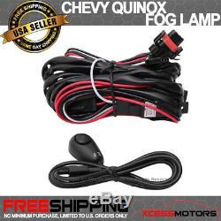 Fit 10-16 Chevy Equinox Avant Projecteur Brouillard Lampe Paire Kit Lh Rh Lentille Claire