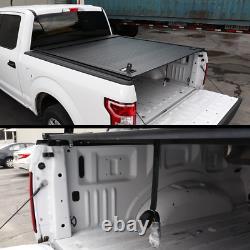 Fit 14-2018 Silverado/sierra 5.8ft Tonneau Cover En Aluminium Imperméable À L'eau