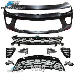 Fit 16-18 Chevy Camaro Ss 50th Anniversary Front Bumper Conversion Withdrl Grille