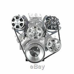 Fit Chevy Sbc 350 Aluminium Serpentine Complet Du Moteur Poulie Et Composants Kit