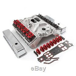 Fit Chevy Sbc 350 Droite Plug-hyd Ft Culasse Top End Combo Kit Moteur