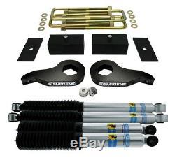 Fits 00-10 Chevy Silverado 2500hd 3 Avant 3 Arrière Lift Kit Bilstein 5100 Chocs