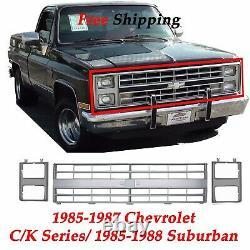Grill & Head Light Door, Camion Silverado Suburban, 86,88 Convient 1985-1987 Chevy 3pc