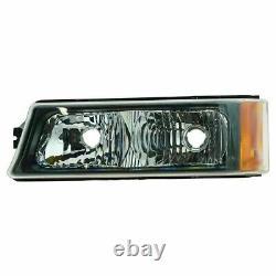 Grille & Headlight Kit + Supports Pour 2003-06 Chevrolet Silverado 1500 2500 3500