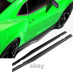 Jupes Latérales Body Kit Convient 2010-2015 Chevy Camaro Sport De Luxe De Style Noir Pp