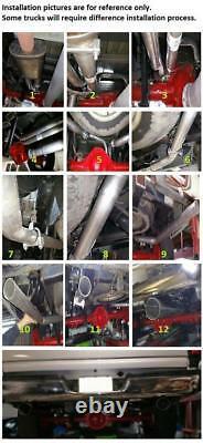 Kit D'échappement De Conversion Double 2,5 Tuyaux Fits 1987 2002 Chevrolet / Gmc Double Kit