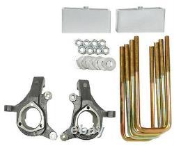 Kit De Levage 3/3 S'adapte 99-06 Silverado 1500 2wd Suspension Spindles Blocs D'aluminium