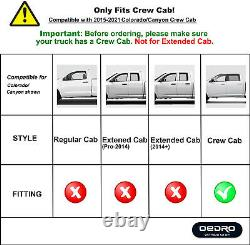 Oedro Marches Latérales Shield Kit Pour 2015-2021 Chevy Colorado/gmc Canyon Crew Cab