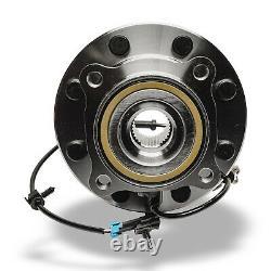 Paire 4wd (2) Roulement De Roue Avant Et Hub Chevy Silverado Gmc Sierra 1500 2500 Hd