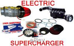 Performance Électrique Prises D'air Supercharger Cône Moteur Du Ventilateur Kit Fit Pour Chevy