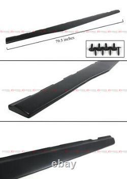 Pour 2010-15 Chevy Camaro Lt Ss 1lt Matt Black Side Jupe Extensions Splitter
