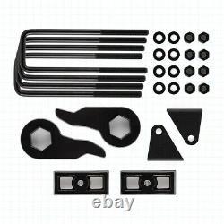 Pour 88-99 Chevy Gmc K2500 K3500 4wd Complet 3 Touches En Acier Blocs Kit De Levage Extendeurs