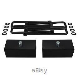 Pour 99-07 Gmc Sierra / Chevrolet Silverado 1500 3 + 2 Lift Kit W + Extenders Cales