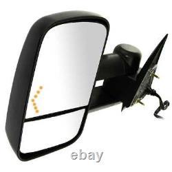 Puissance Chauffée De Remorquage Led Signal Miroir De Côté Paire Pour Sierra Silverado 1500 2003-2006