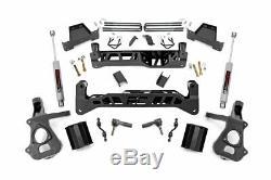 Rough Country 7 Lift Kit (fits) 14-18 Chevy Silverado Gmc Sierra N3 Chocs