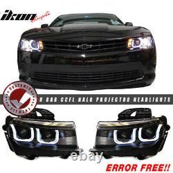 S'adapte 10-13 5th À 6th Gen Camaro Zl1 Front Bumper Cover + Black Headlights + Drl