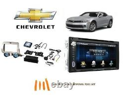 S'adapte Chevrolet Camaro 2010-2015 Double Din Car Stereo Kit Touchscreen Bluetooth