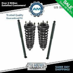 Set 2 Front Complete Struts & 2 Rear Shocks 4pc Fits Chevy Trailblazer Gmc Envoy