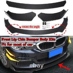 Spoiler Universal Carbon Look Front Bumper Lip Body Kit Pour Honda Bmw Benz Mazda
