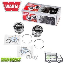 Warn Standard Manual Chrome Locking Hub Kit Fits Ford Chevy Jeep